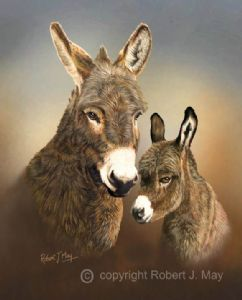 Limited Edition Donkey and Foal Print RMLE80